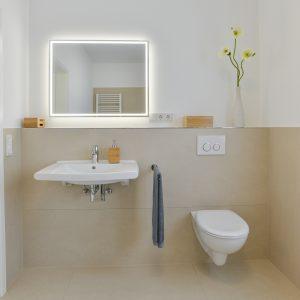 NOWAK-Badezimmer-Basis-Kompakt-Waschbecken-Spiegel