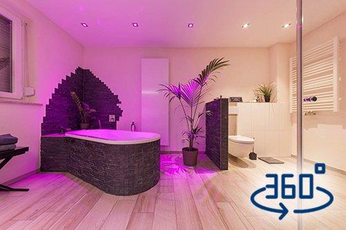 Bad-Referenzbad-die-Regenwald-Dusche-Badewanne-Whirl-Wanne-Whirlpool-RGB-Beleuchtung-360