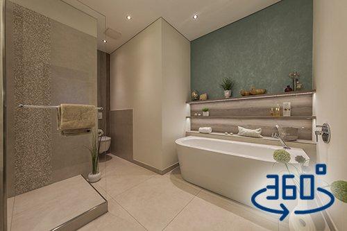 Badezimmer-wohnen-Dusche-WC-Badewanne-360